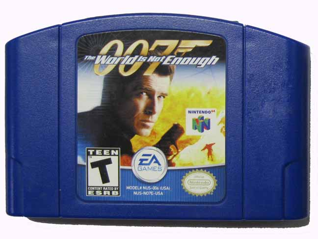 007 The World Is Not Enough N64 Blue Cart