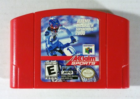 Jeremy McGrath Supercross 2000 Red Cart