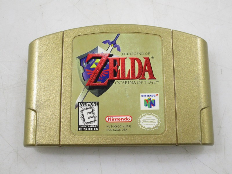 Legend of Zelda Ocarina of Time Gold Cart