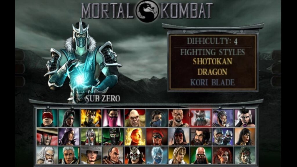 MK Deception Character Select