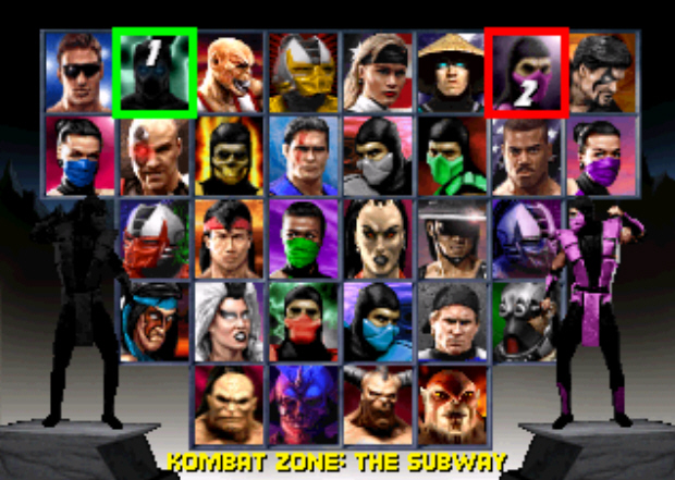MK Trilogy Character Select