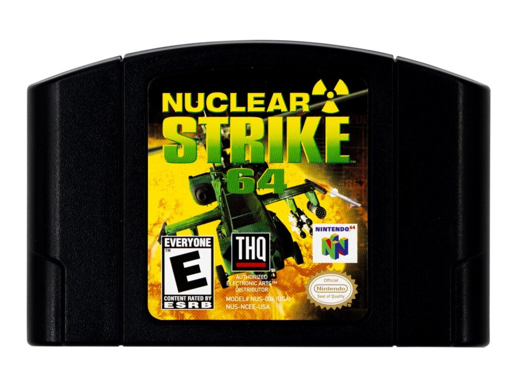 Nuclear Strike N64 Black Cart