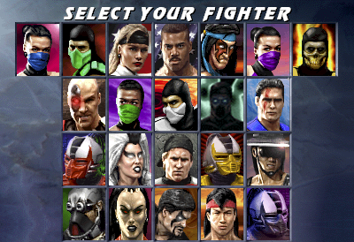 Ultimate MK3 Character Select