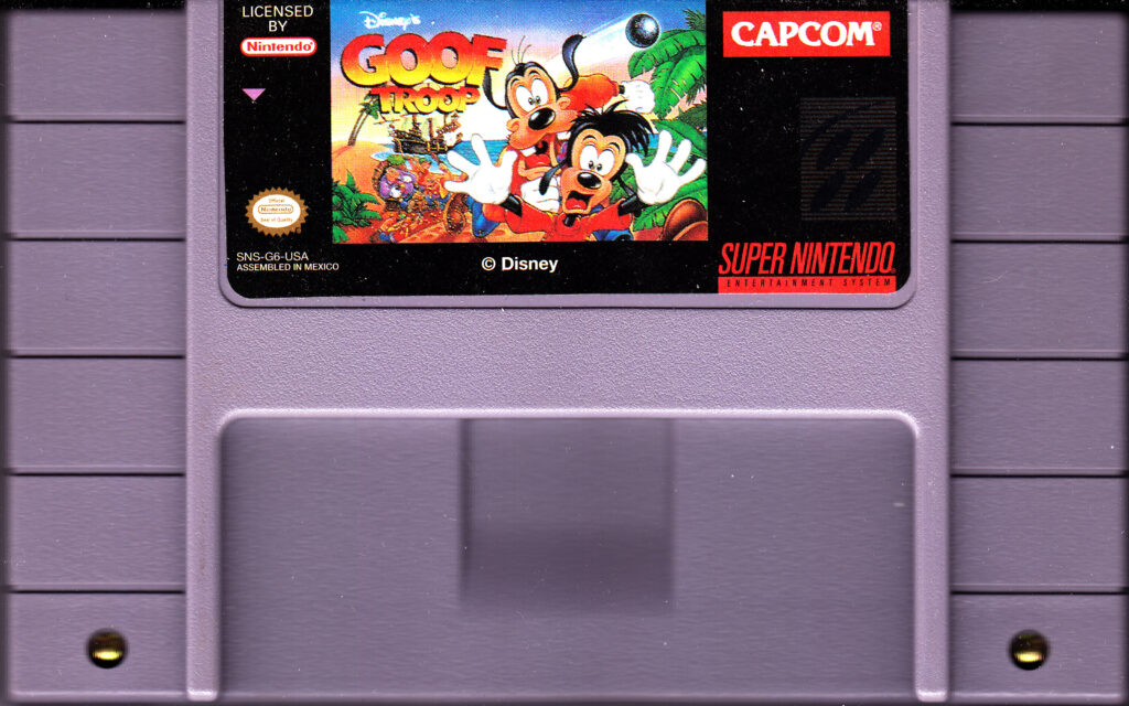 Goof Troop SNES Cart