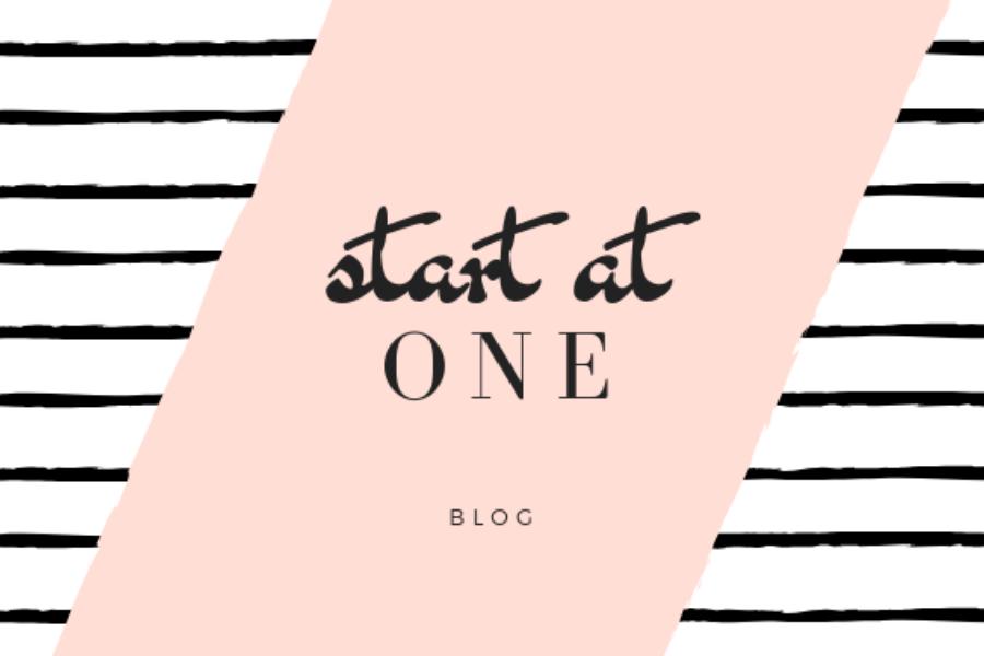 Start At 1 Blog