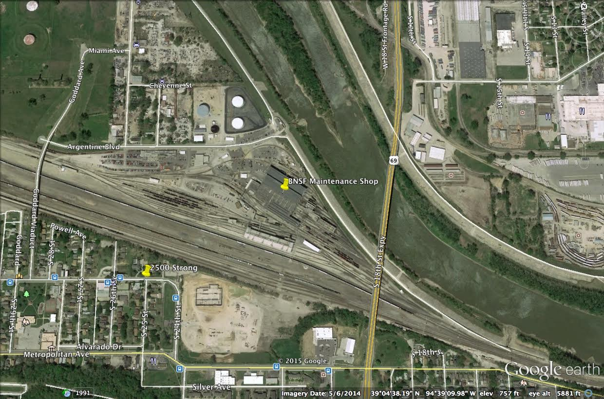 Map Showing Maintenance Shop And 2500 Strong