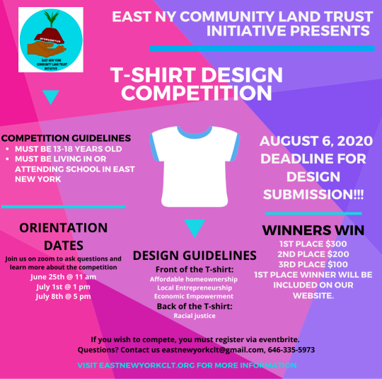 East New York T-shirt design competition