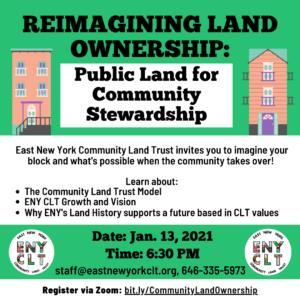 Community Land Ownership Forum flyer