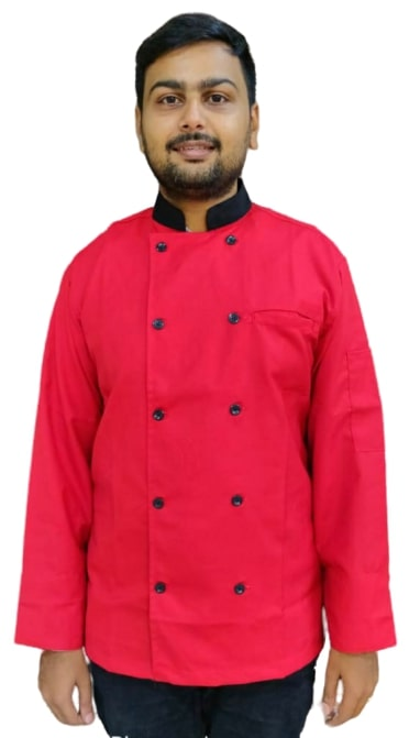 Chef coat Red Full sleeves