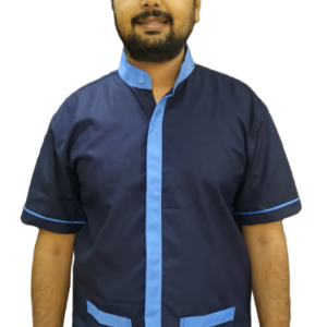 Housekeeping shirt - Navy blue with sky blue combo