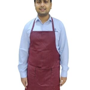 Apron - Black and red stripes