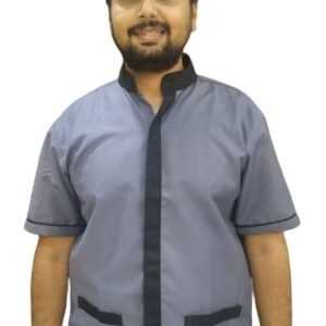 Housekeeping shirt - Grey with black contrast