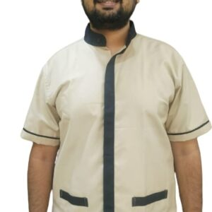 Housekeeping shirt - Beige with black contrast