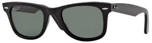 Ray Ban Wayfarer Classic Black Green G-15 Polarized