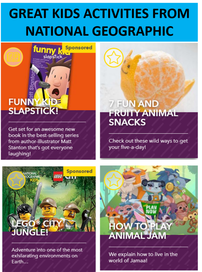 National Geographic Online Kids Activities