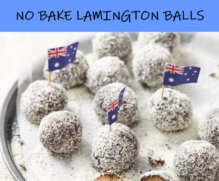 Simple no bake lamington balls you'll become obsessed with this Aussie Day!