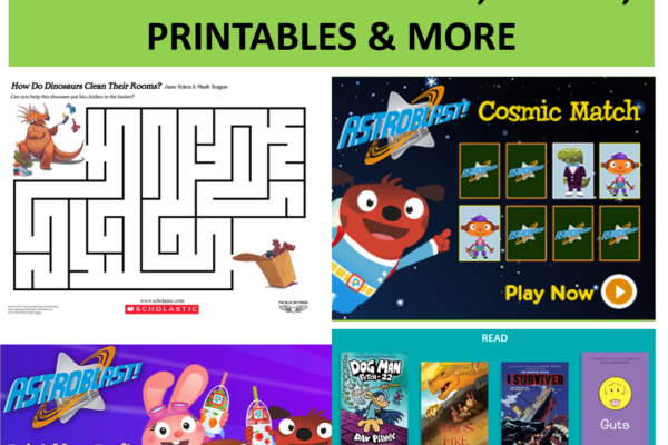 Scholastic Kids Games, Printables, Books & More