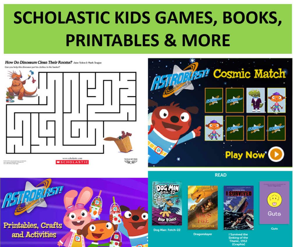 scholastic kids books activities online games fun