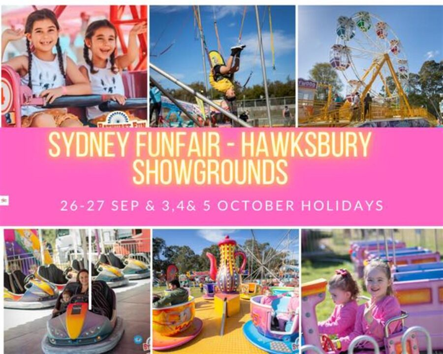 hawkesbury sydney fun fair showgrounds long weekend whats on october