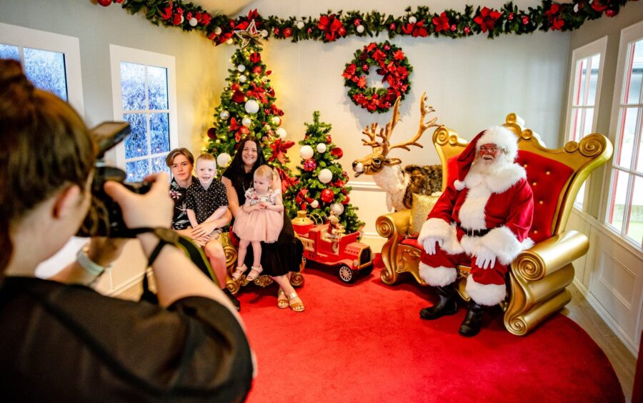 Book your private Santa photo experience at RHTC this Christmas!  While you may not be sitting on Santa's lap, he will be able to hear what you want for Christmas in this tranquil and intimate (but socially distant) setting.