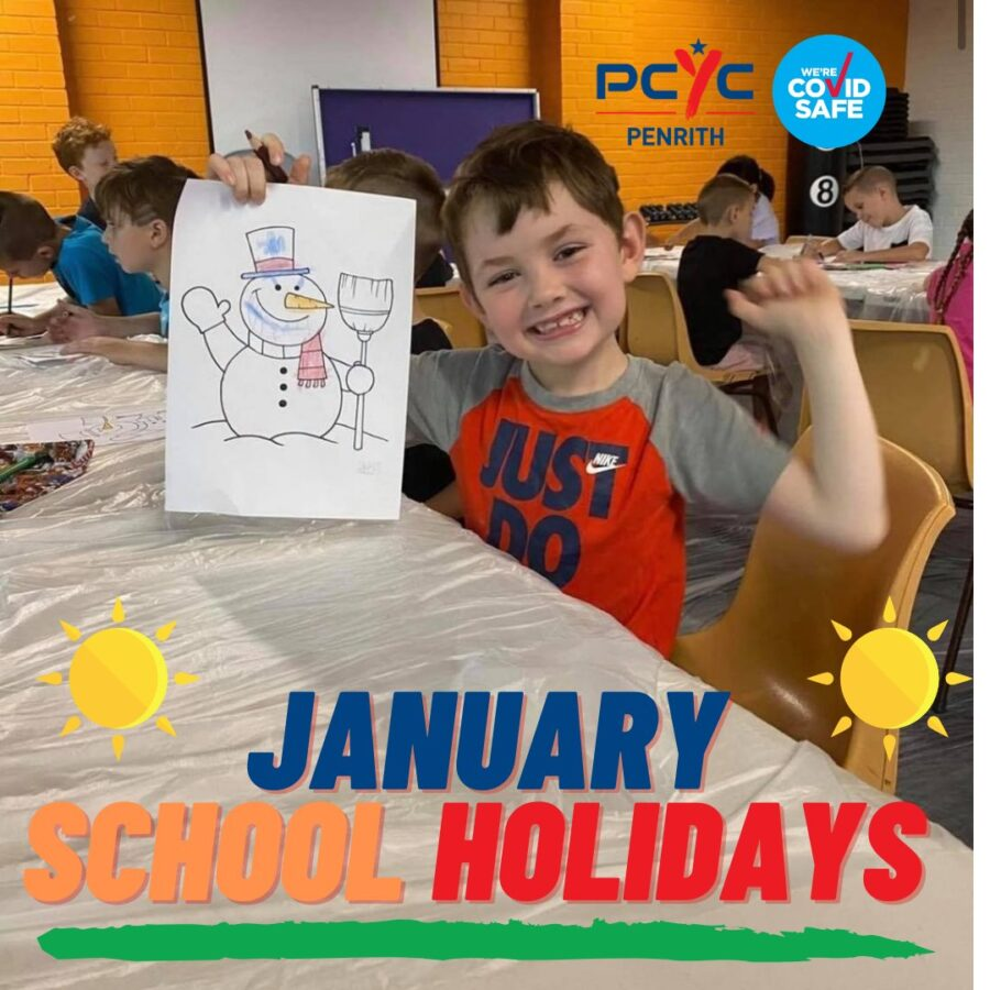 PCYC Penrith school holiday activities 2021 summer