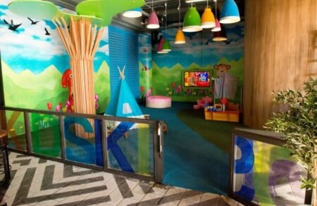 The backyard penrith panthers play playground kids area lunch cafe