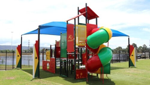 The backyard penrith panthers play playground kids area lunch cafe playground