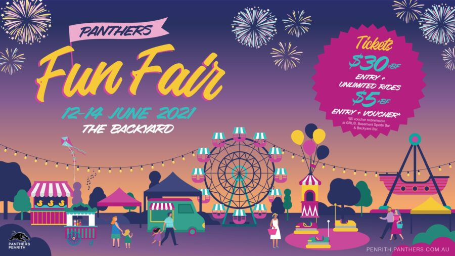 Fun Fair Penrith the backyard panthers whats on events western sydney