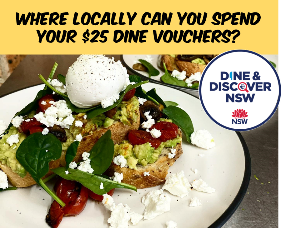 Where can you spend your dine vouchers locally