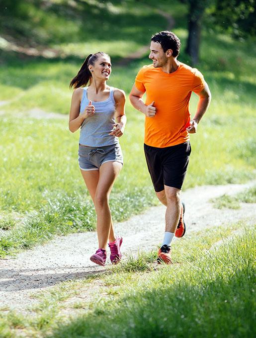 Healthy Couple Jogging