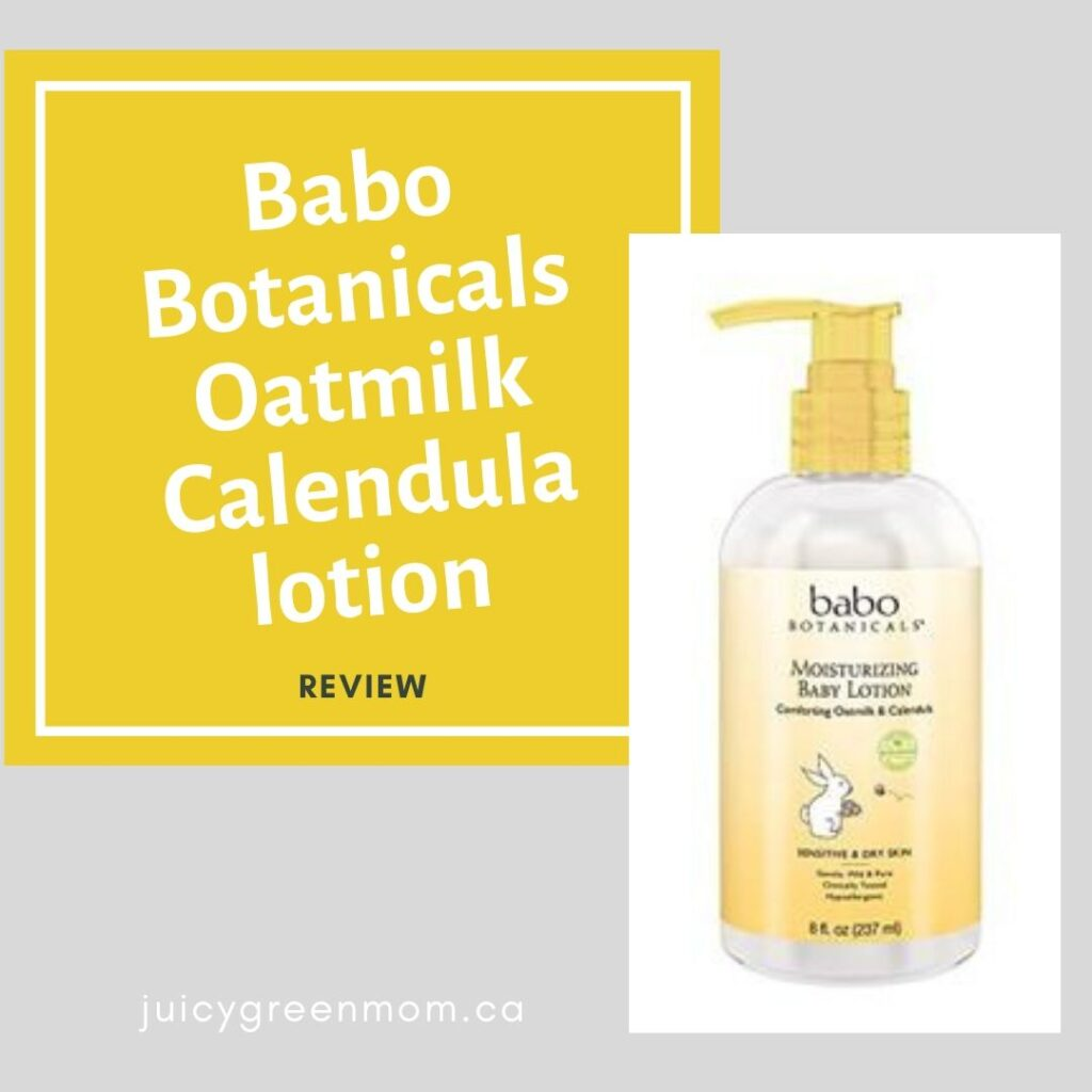 Babo Botanicals Oatmilk Calendula lotion REVIEW
