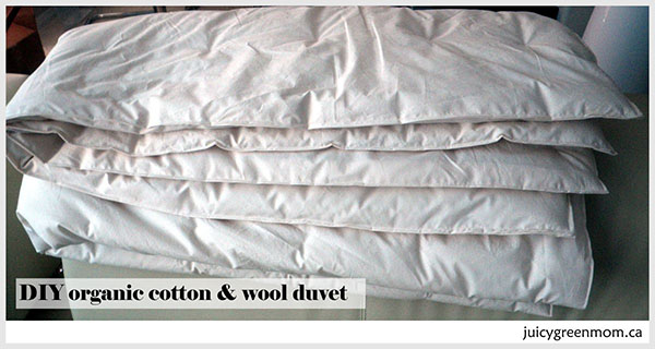 DIY: making an organic cotton and wool duvet