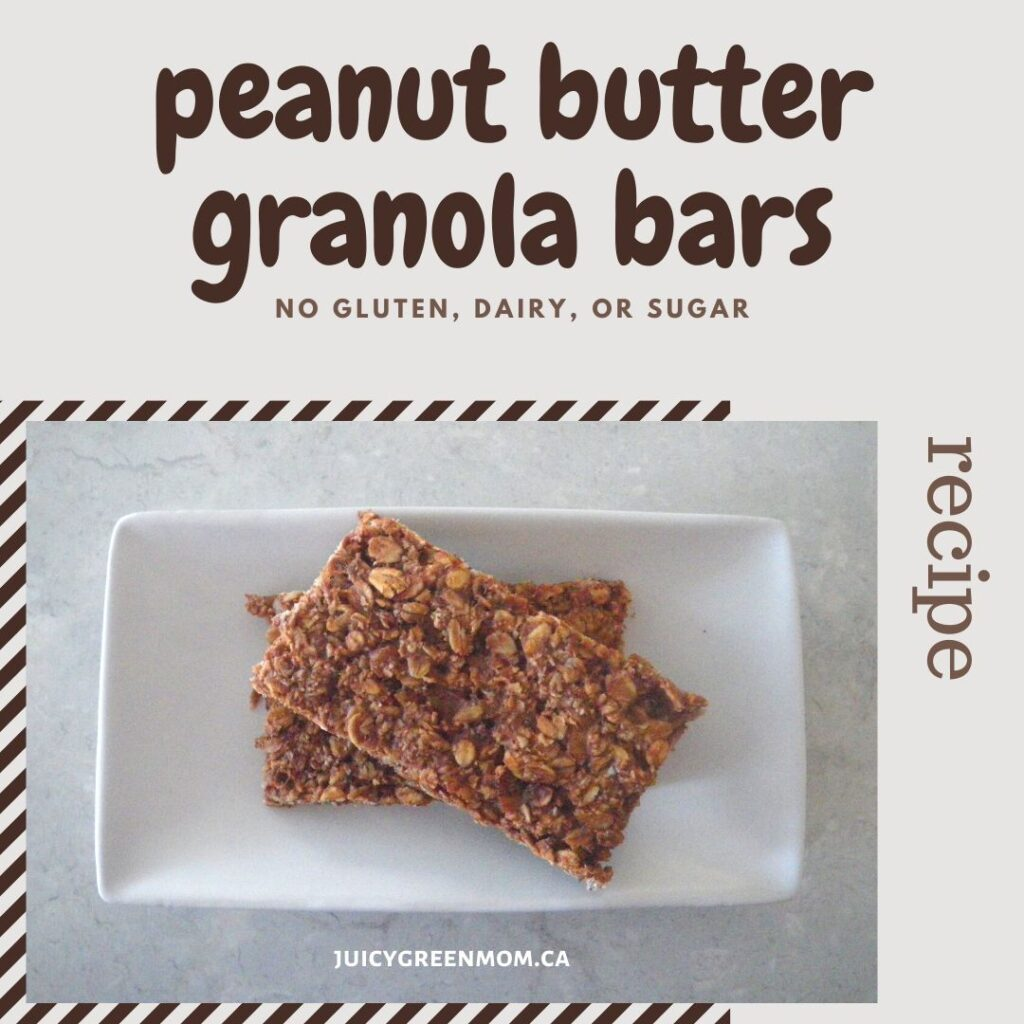 peanut butter granola bars recipe juicygreenmom