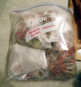 rhubarb in bag for freezer juicy green mom