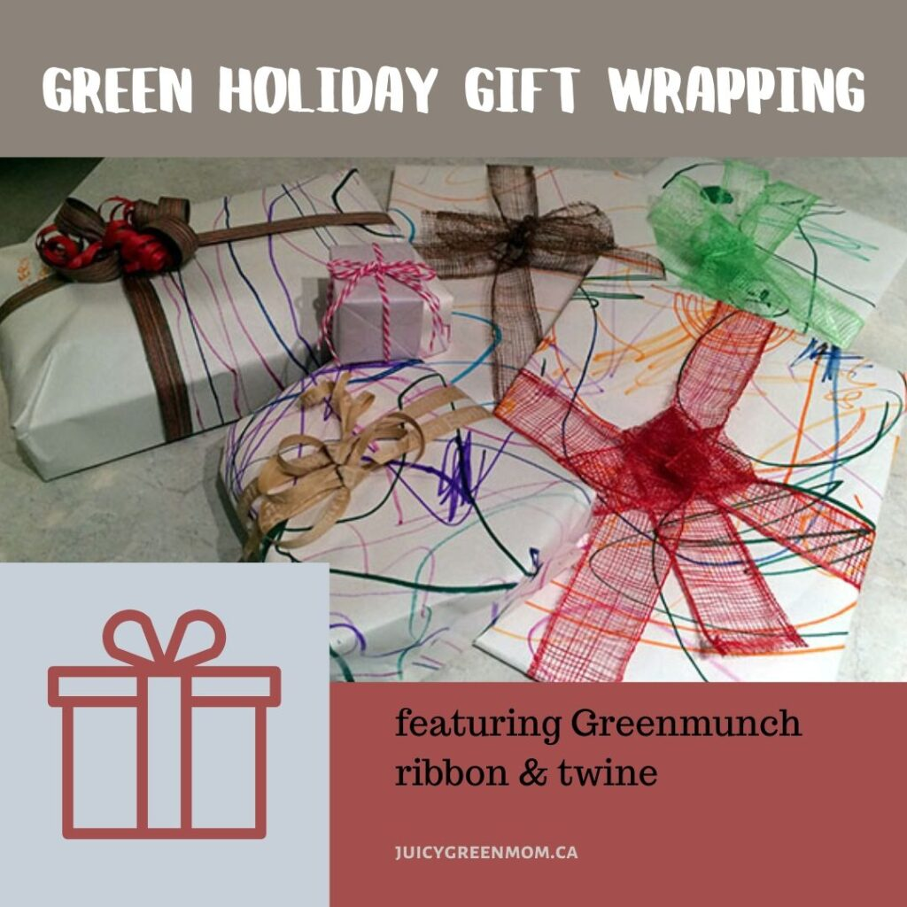 Green Holiday Gift Wrapping greenmunch juicygreenmom