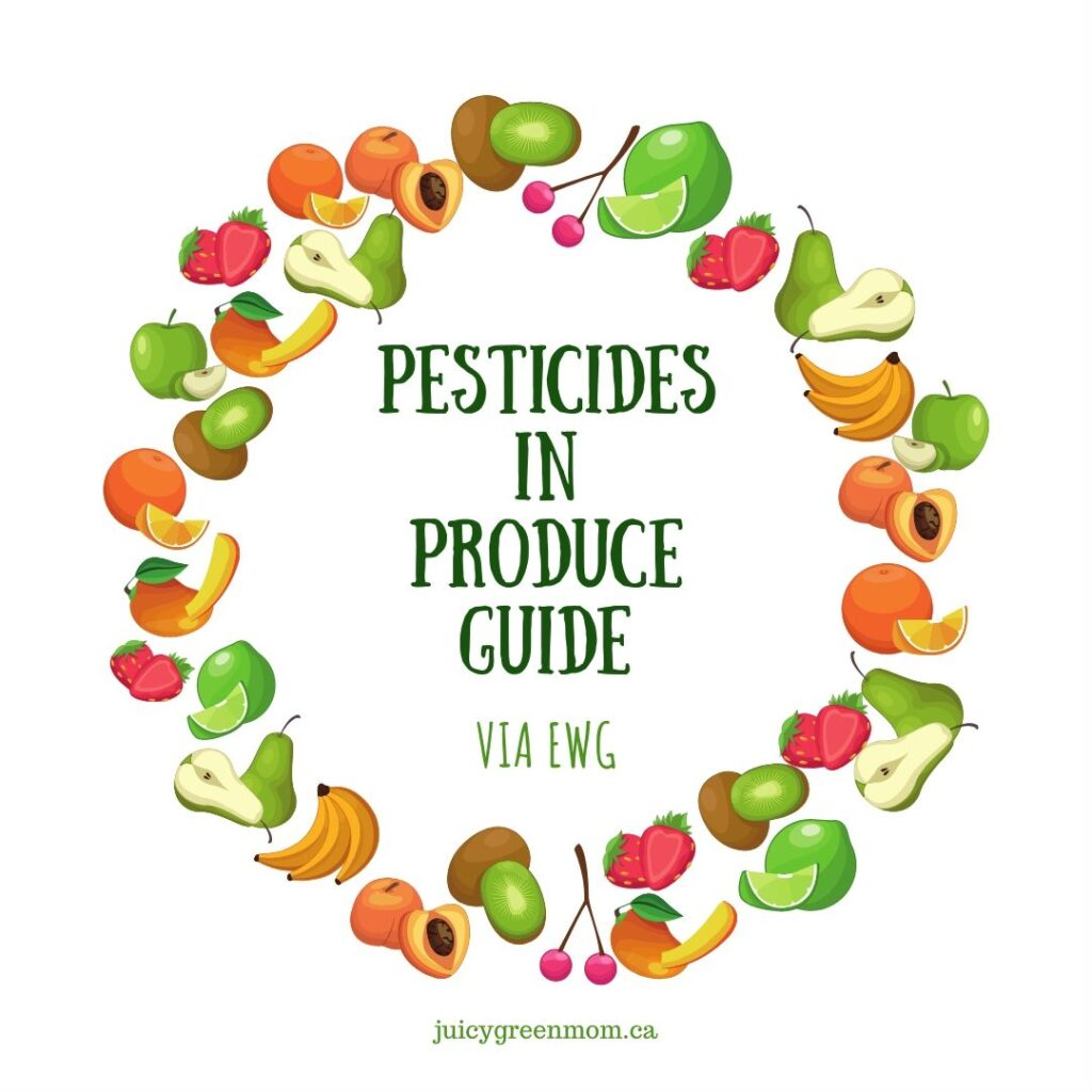 pesticides in produce guide via EWG juicygreenmom