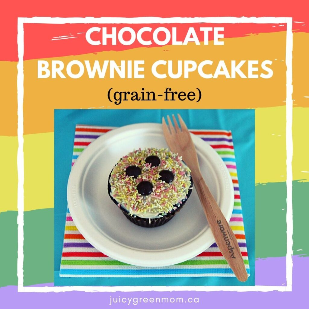 chocolate brownie cupcakes grain free juicygreenmom