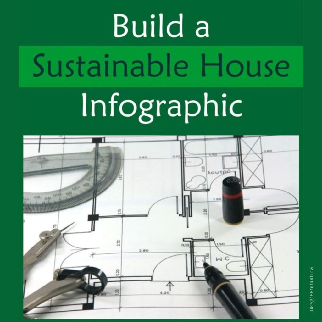 build a sustainable house infographic juicygreenmom