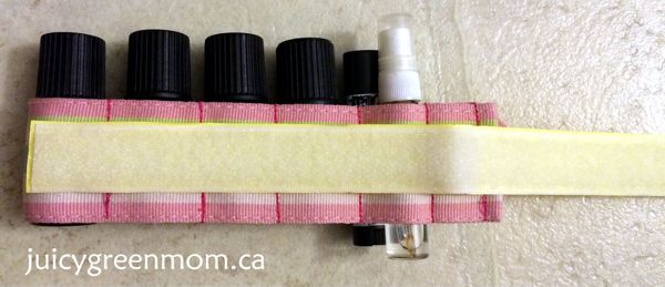 velcro for DIY essential oils organizer