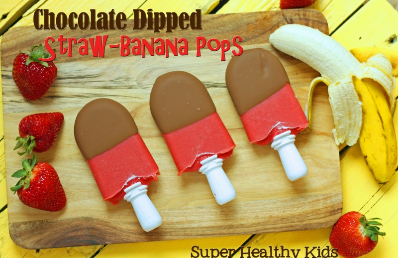 chocolate dipped straw banana pops