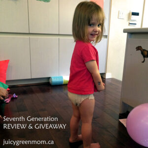 girl with seventh generation training pants