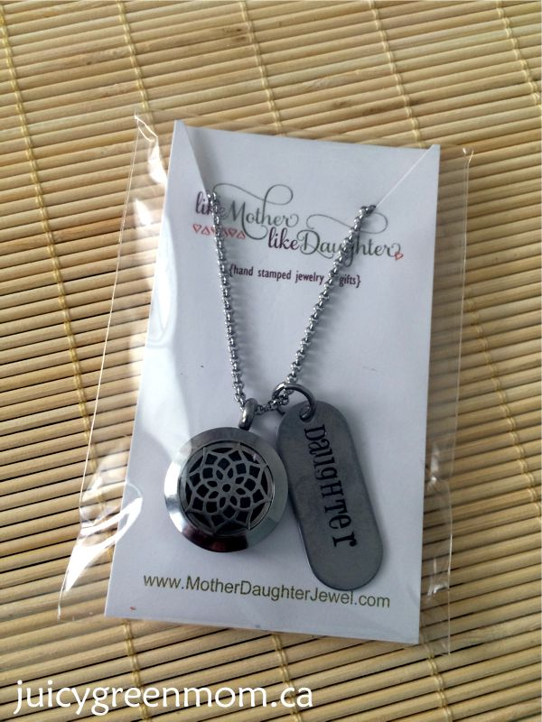 mother daughter jewel small stainless steel diffuser necklace handstamped daughter