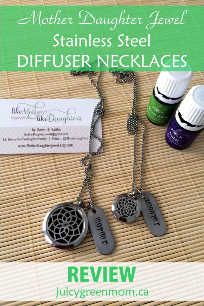 Mother Daughter Jewel REVIEW: Stainless Steel Diffuser Necklaces