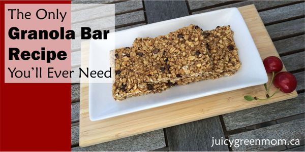 only granola bar recipe you need landscape juicygreenmom