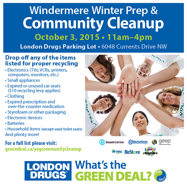Windermere Winter Prep & Community Cleanup with London Drugs