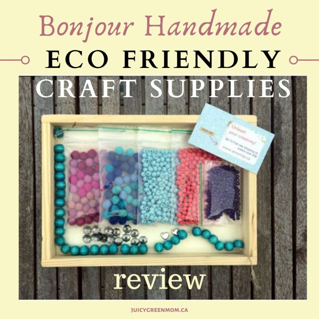 Bonjour Handmade eco friendly craft supplies juicygreenmom