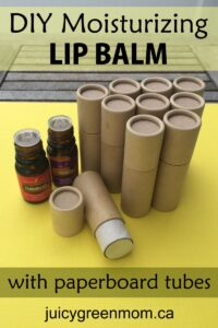 DIY-lip-balm-recipe-with paperboard tubes