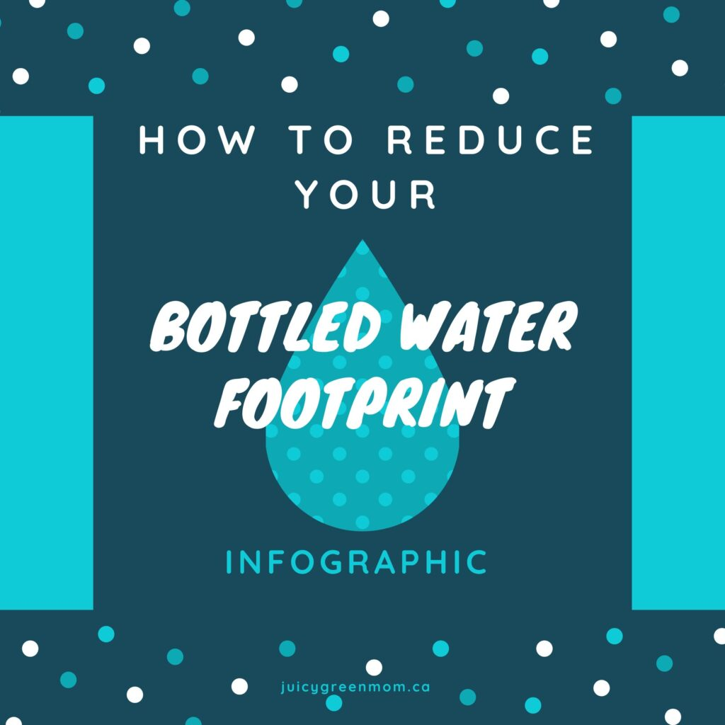 how to reduce your bottled water footprint infographic juicygreenmom