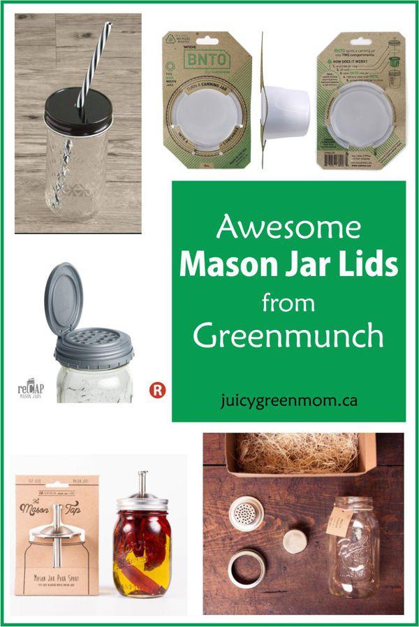 awesome mason jar lids from greenmunch juicygreenmom