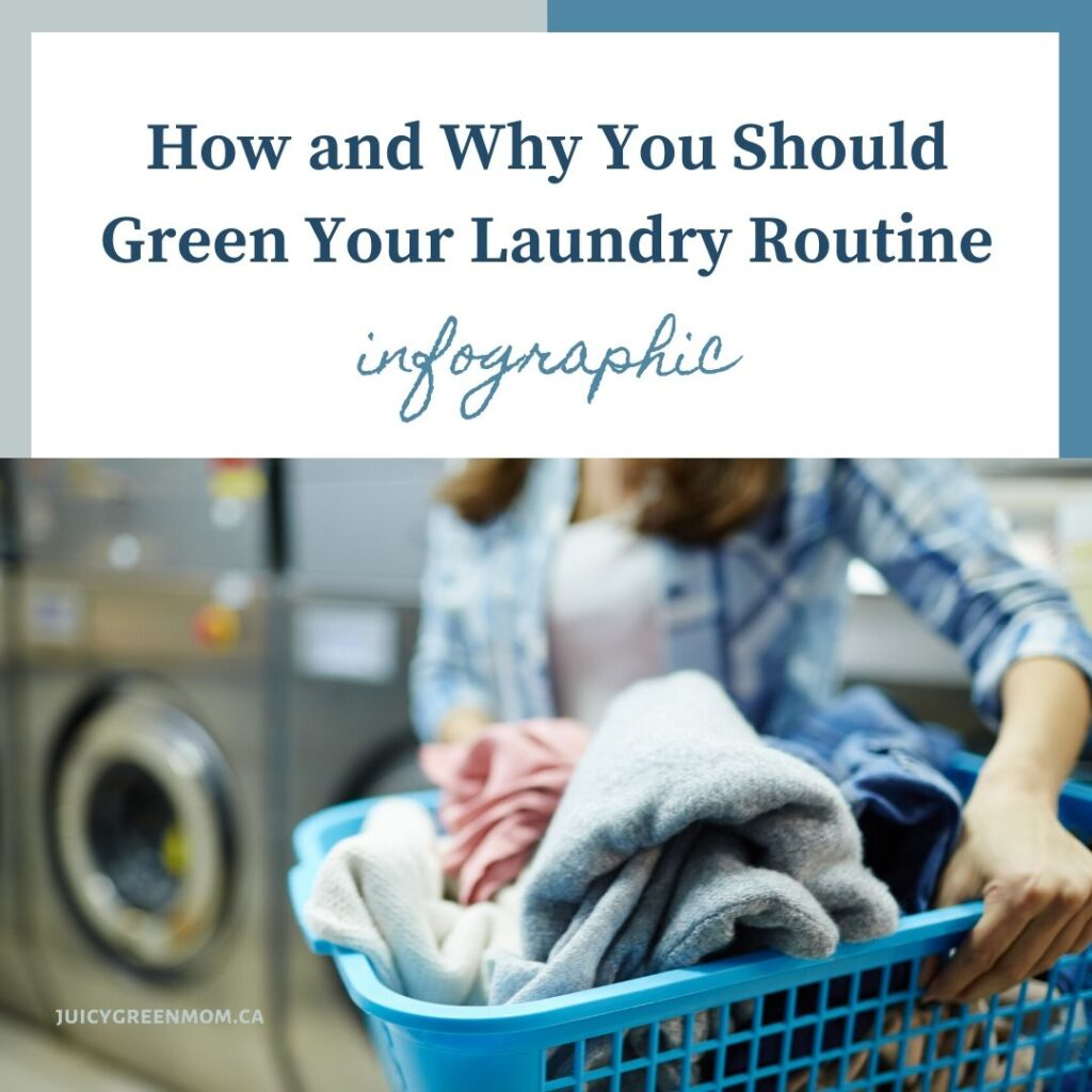 How and Why You Should Green Your Laundry Routine infographic juicygreenmom